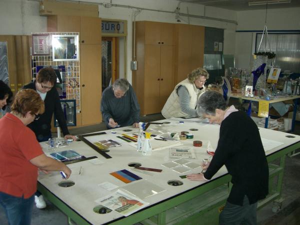 Fusingkurs März 2009 Glaserei Reiterer GmbH Ternitz