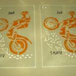 Glasfusing Objekte Logos von der Glaserei Reiterer GmbH in Ternitz